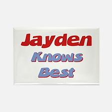 Jayden Knows Best Rectangle Magnet