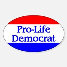Pro-Life Democrat Oval Decal