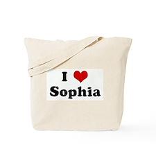 I Love Sophia Tote Bag