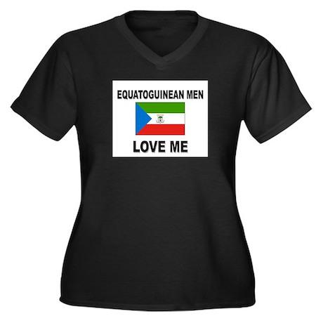 Equatoguinean Men Love Me Women's Plus Size V-Neck