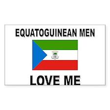 Equatoguinean Men Love Me Rectangle Decal