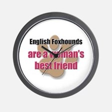 English Foxhounds woman's best friend Wall Clock
