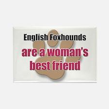 English Foxhounds woman's best friend Rectangle Ma