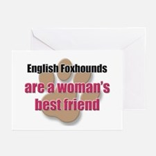 English Foxhounds woman's best friend Greeting Car