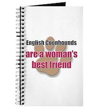 English Coonhounds woman's best friend Journal
