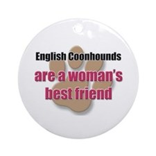 English Coonhounds woman's best friend Ornament (R
