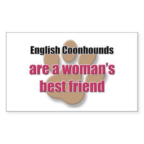 English Coonhounds woman's best friend Sticker (Re