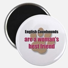 English Coonhounds woman's best friend Magnet