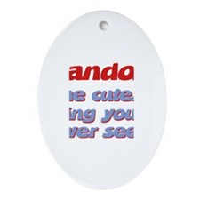 Landon - The Cutest Ever Oval Ornament