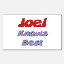 Joel Knows Best Rectangle Decal