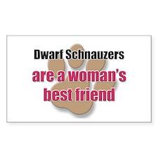 Dwarf Schnauzers woman's best friend Decal