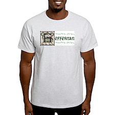 Heffernan Celtic Dragon Ash Grey T-Shirt