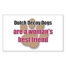Dutch Decoy Dogs woman's best friend Decal