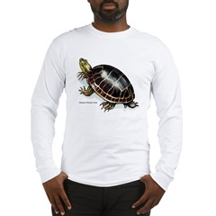 Western Painted Turtle (Front) Long Sleeve T-Shirt