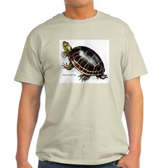 Western Painted Turtle (Front) Ash Grey T-Shirt