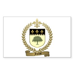FOREST Family Crest Rectangle Decal