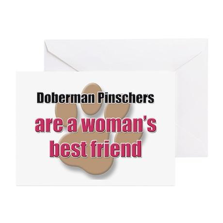 Doberman Pinschers woman's best friend Greeting Ca