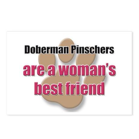 Doberman Pinschers woman's best friend Postcards (