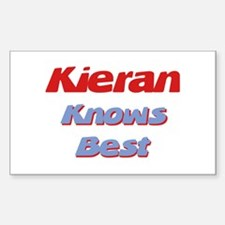Kieran Knows Best Rectangle Decal