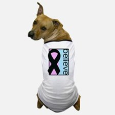 Pink and Blue (Believe) Ribbon Dog T-Shirt