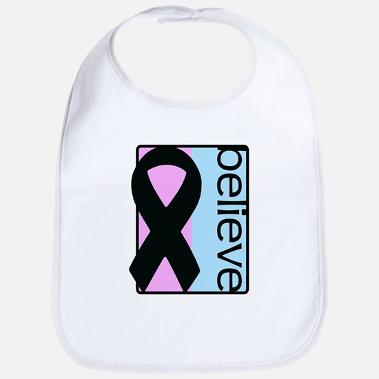 Pink and Blue (Believe) Ribbon Bib