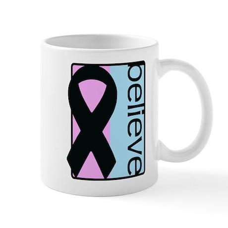 Pink and Blue (Believe) Ribbon Mug