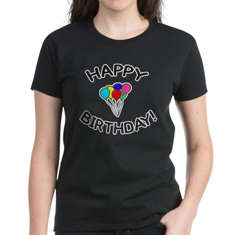 'Happy Birthday!' Women's Dark T-Shirt