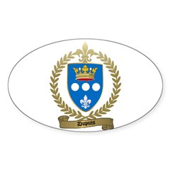 DUPUIS Family Crest Oval Decal