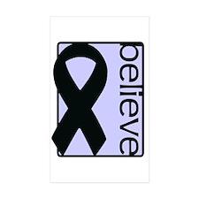 Periwinkle (Believe) Ribbon Rectangle Sticker 50