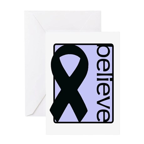 Periwinkle (Believe) Ribbon Greeting Card