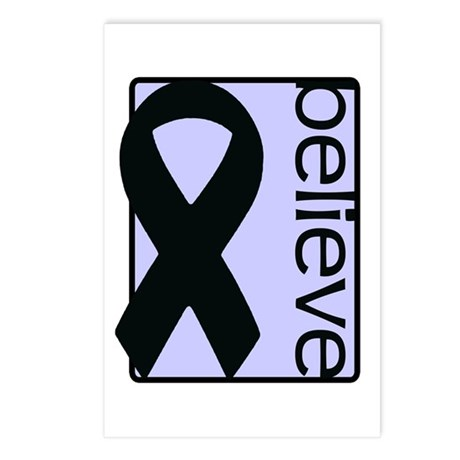 Periwinkle (Believe) Ribbon Postcards (Package of