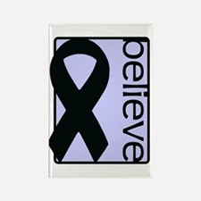 Periwinkle (Believe) Ribbon Rectangle Magnet