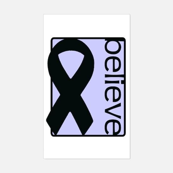 Periwinkle (Believe) Ribbon Rectangle Bumper Stickers