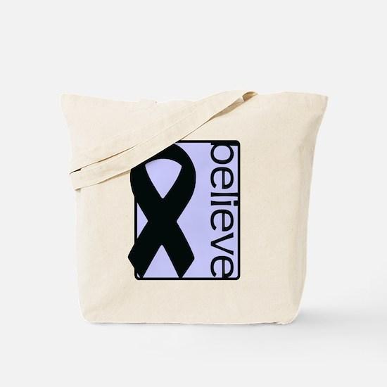 Periwinkle (Believe) Ribbon Tote Bag