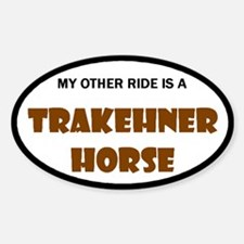 My Other Ride Trakehner Horse Oval Decal