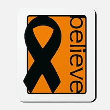 Orange (Believe) Ribbon Mousepad