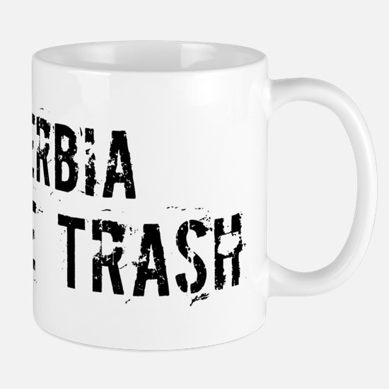 Serbia White Trash Mug