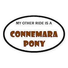 My Other Ride Connemara Pony Oval Sticker (10 pk)