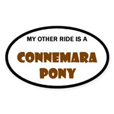 My Other Ride Connemara Pony Oval Decal