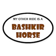 My Other Ride Bashkir Horse Oval Sticker (10 pk)