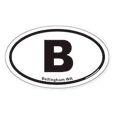 Bellingham WA B Euro Oval Decal