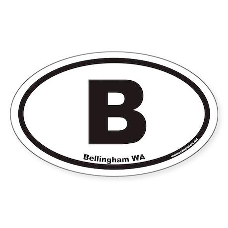 Bellingham WA B Euro Oval Sticker