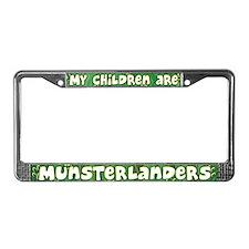 My Children Munsterlander License Plate Frame