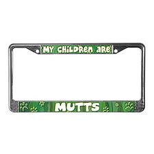 My Children Mutt License Plate Frame