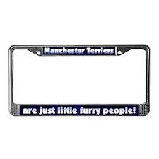Furry Ppl Manchester Terrier License Plate Frame