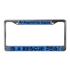 Rescue Dog Manchester Terrier License Plate Frame