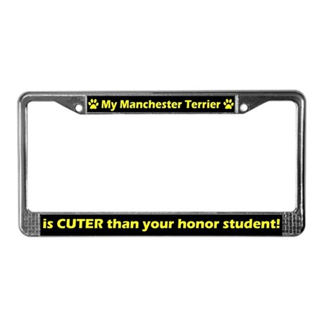 Honor Student Toy Terrier License Plate Frame