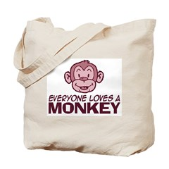 Everyone loves a Monkey Tote Bag