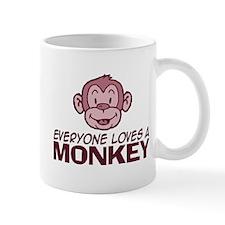 Everyone loves a Monkey Small Mugs