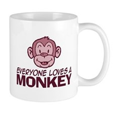 Everyone loves a Monkey Small Small Mug